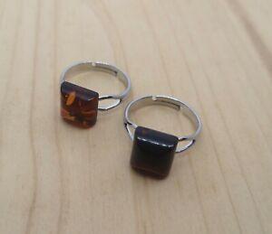 Amber ring, Silver ring, Stone ring, Gemstone ring, Baltic amber, Natural amber
