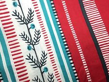 Mad Mod 60s Geometric Striped Leaf Floral Cotton Upholstery Men Fabric 2+ Yards