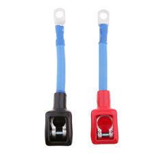1 Pair Car Positive+Negative Battery Extension Cable Wire Connector Terminal