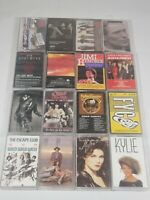 Vintage Retro 70s 80's and 90's Music Cassette Tapes Lot Of 16 The Cure Judas Pr
