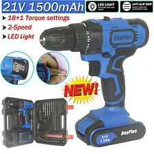18V CORDLESS COMBI DRILL DRIVER ELECTRIC BATTERY POWER SCREWDRIVER WITH BITS SET