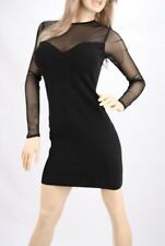 NEW Victoria's Secret Mesh Sweetheart Bandage Zipper Sweaterdress Dress XS Black