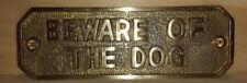 Brass Dog Decorative Outdoor Signs/Plaques