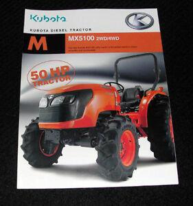 ORIGINAL 2007 KUBOTA MX5100 MX 5100 TRACTOR CATALOG BROCHURE VERY NICE