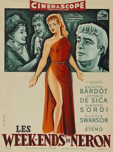Nero's Mistress Mio figlio Nerone Brigitte Bardot De Sica movie poster print