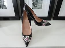ON SALE NOW! KATE SPADE Black Patent Leather Pumps Heels w/Sparkling Stones