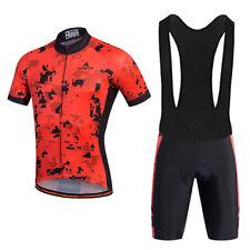 Reflective Cycling Jersey & (Bib) Shorts Set Men's Cycle Clothing Kit Red S-5Xl