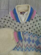 vintage SAMBAND mohair ICELAND wool sweater MEDIUM icelandic CARDIGAN zip jacket
