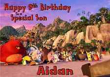 angry birds personalised A5 birthday card son daughter nephew niece name age