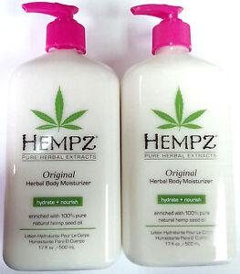 2 PACK of Hempz Original Herbal Full Body Moisturizer After Tan Tanning Lotion