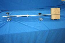 Canoe trolling motor mount - Aluminum / Double Block Ash w/ extension