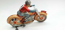 Tin Toy  Technofix Wind up Tricky Motorcycle  Ge255 (fall and raises)