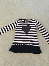 Girls Sequin Dress Tunic Top From Next Pink & Black Age 11