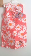 DORA THE EXPLORER SIZE 6 GIRLS CORAL PINK  DRESS FLORAL NEW WITH TAGS