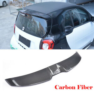 For Benz Smart Fortwo Coupe 16-17 Rear Roof Spoiler Wing Carbon Fiber Factory