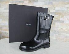 Lujo dolce & Gabbana talla 40 botas zapatos negro nuevo ex PVP 795 €