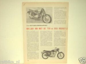 BSA ROCKET & TRIUMPH TRIDENT ROADTEST MOTORCYCLE MOTORRAD BIKE TEST