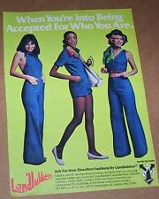 1976 ad page -Landlubber Jeans CUTE Girl New Direction fashions vintage Print AD