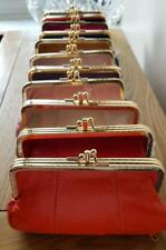 LARGE LADIES PURSE  VINTAGE RETRO  STYLE GENUINE lEATHER BOTTOM ZIP COMPARTMENT