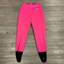 Vintage Obermeyer Sport Ski Pants Womens Size 10R Pink Wool Blend Made In Japan