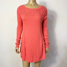 Free People Women's Cotton & Wool Blend Knit Long Sleeve Pullover Size Small