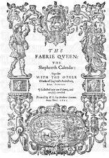 The Faerie Queene (Fairy Queen) Elizabethan Edmund Spenser 1611 Facscimile Copy