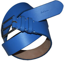 PAUL SMITH MADE IN ENGLAND BLUE LEATHER BELT SZ-36 BRAND NEW TAGS RARE