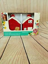 The Pioneer Women Salt and Pepper Shaker Rustic Barn Red Gibson B365