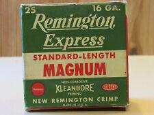 Vintage RARE Remington Express Standard Length Magnum 16 ga Shotgun shell box