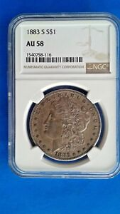 1883 s NGC AU58 Morgan Silver Dollar Key Date