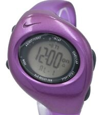 New Nike Triax 10 Regular WR0006 Purple Plum Digital Chronograph Sports Watch