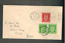 1941 Jersey Channel Islands Occupation Cover England Local Use Victoria Village