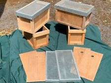 Nucleus box with cover board, feeder and