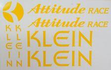 KLEIN Attitude Race Paint Mask Vinyl ~ Klein Frame, Seat-stay, Head-badge Vinyl