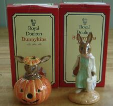 Royal Doulton Bunnykins Halloween Db 132 & Shopper Db 233 w/Boxes