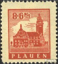 Plauen in Vogtland 4y postfris 1945 Stadhuis Plauen