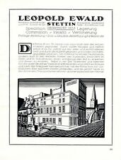 Spedition Ewald Stettin XL Reklame 1924 Szczecin Werbung Pommern Polen +