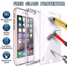 iPhone 7 PLUS Shockproof Silicone  Case Cover + FREE SCREEN PROTECTOR GLASS