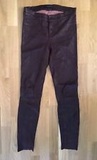 J Brand Oxblood Dark Red Leather Pants Size XS