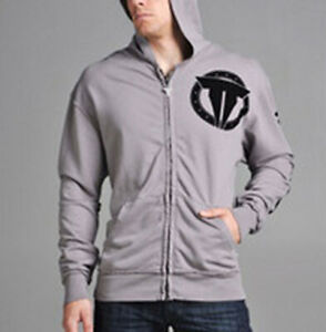 "Throwdown by Affliction ""Silver"" Zip Up Hoodie"
