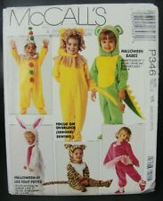 McCalls Sewing Pattern 1991 Halloween Babes Costumes 346 Size NB SM MED Uncut