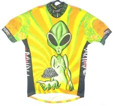 Primal Wear Illegal Alien Cycling Jersey Adult Large Green Yellow 3/4 Zip