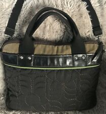 FOSSIL Women's Large MESSENGER LAPTOP QUILTED CROSSBODY Silver Hardware