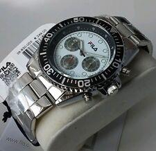 Orologio Cronografo Uomo FILA Sport Men's Steel Watch Chrono Cal. SEIKO NUOVO