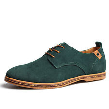 2017 Mens Suede Oxfords leather Casual Shoes European Style Dress Formal UK 5-12