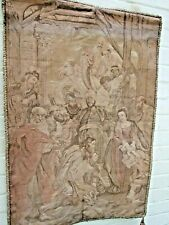 """Antique Peter Paul Rubens French Tapestry """"Adoration of the Magi''Signed 1890's"""