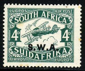 SOUTH WEST AFRICA KG V 1930 Overprinted South Africa 4d. Air Mail SG 70b MINT