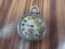 Keystone Nickeloid Case Pocket Watch Antique Open Face Waltham 7 Jewels