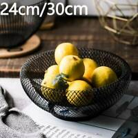 24/30cm Reticulate bilayer fruit Kitchen vegetables organizer bowl basket stand
