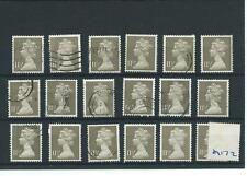 GB - WHOLESALE - MACHIN DEFINITIVES - MA172. 11.5p DRAB - 18  COPIES - USED